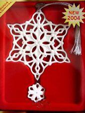 Lenox 2004 Annual WINTER WHITE Snowflake Ornament -NEW!