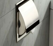Paper Holder Toilet Bathroom Stainless Steel Tissue Roll Recessed Wall Storage