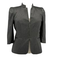 Antonio Melani Jacket NWOT Black & Grey Blazer Band Collar Size 12 Large