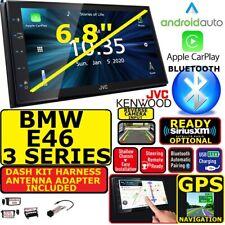 BMW E46 JVC GPS NAVIGATION JVC-KENWOOD NAV BLUETOOTH CARPLAY ANDROID AUTO STEREO