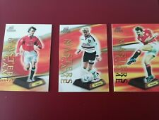 PROMOTIONAL Futera Platinum 1999 Masters of the Game MAN UTD. SET OF 3