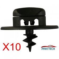 SKODA VW FLOOR MAT CARPET CLIPS FASTENER SCREWS PLASTIC TURN LOCK OVAL HOLE x10