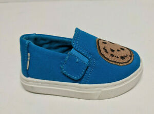 Toms Luca Cookie Monster Slip-On Shoes, Blue, Toddlers 4 M