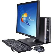 Dell Optiplex 760 Desktop PC Monitor E7400 Core 2 Duo 2.8Ghz 4Gb 250Gb FAST