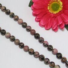 Strang natur Rhodonit 10mm kugeln lose Perlen