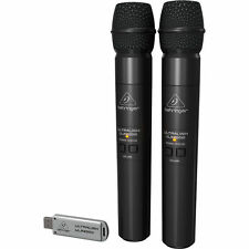 NEW Behringer Ultralink ULM202USB 2.4 GHz Dual Wireless Microphone Mic System