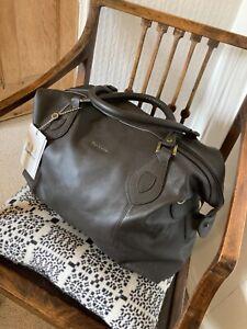 BNWT brown Barbour leather holford explorer weekend bag. Free postage.