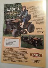 LASER Westwood Honda Powered Ride On Garden Tractor Original1980s Sales Brochure