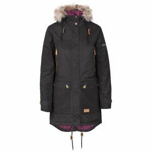 Trespass Clea Waterproof Parka Jacket - Black