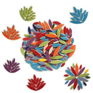 100g Irregular Ceramic Mosaic Tiles Petal Mosaic Pieces Stones DIY Craft Hobby