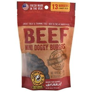 Happy Howie's Doggy Beef Burgers, 13 Pack