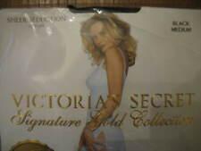 Victoria's Secret Signature Gold Selection Sheer Seduction Stay Ups BLACK Medium