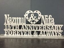 Personalised Anniversary Plaque Plinth Silver Golden
