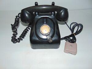 Vintage Black Leich Model 901B Desk Top Crank Telephone + Extra Receiver