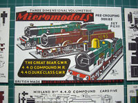Micromodels PG7 Cut-out Kit GWR & MR Locomotives Vintage Original 1955. Mint