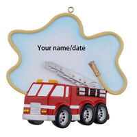 Fire Truck Fire Engine Firefighter Personalized Christmas Ornament New Year Gift