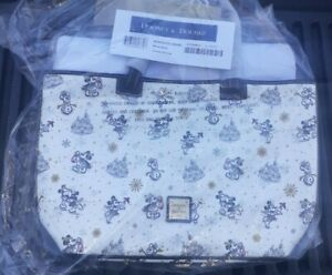 2020 New w Tags Disney Parks Dooney & Bourke Christmas Holiday Tote Bag purse