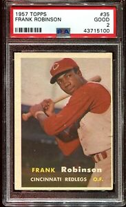 1957 TOPPS FRANK ROBINSON rookie RC #35 PSA 2