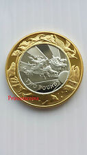 1999-2000 FALKLAND ISLANDS MILLENNIUM GOLD SILVER PROOF £2 TWO POUND COIN / COA