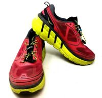 Hoka One One Conquest Shoes Women's Trail Running Size Pink Yellow US 9.5 B7A