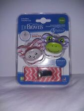 Dr. Brown's PreVent Pacifiers with Clip - Pink