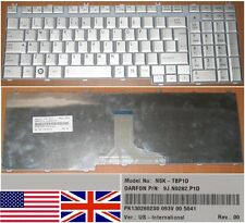 Clavier Qwerty US Int TOSHIBA Satellite P200 P205 P300 NSK-TBP1D 9J.N9282.P1D