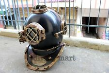 Antique U.S Navy Mark V Full Brass Full Size Maritime Diving Divers Helmet Gift