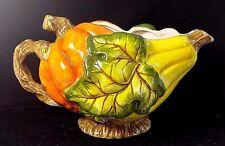By Bico China Ceramic Pumpkin Squash Fall Harvest Decorative Gravy Boat