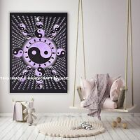 Indian Handmade Yin Yang Wall Hanging Cotton Tapestry Poster Mandala Yoga Mat