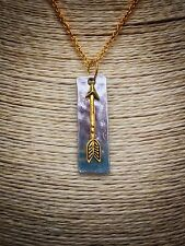 Dainty Gold Curb Chain With Silver And Gold Arrow Pendant Charm   Boho Kitsch