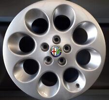 KIT 4 CERCHI IN LEGA ORIGINALI ALFA ROMEO 147 156 GT DA 15 COLORE SILVER NUOVI