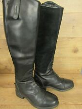 Ariat Black Leather Womens Waterproof Equestrian Bromont Insulated Boots 6.5