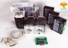 Free Ship 3 Axis Nema34 Stepper Motor 1232oz & Drivers CNC Mill Router longs