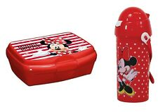 Disney Minnie Mouse Drinks Flask Dispenser with Straw and Sandwich Box
