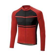 Maglie da ciclismo rosso a manica lunga taglia L