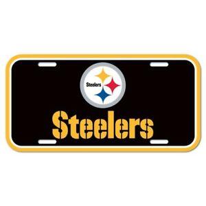 Pittsburgh Steelers Football Name & Logo NFL Souvenir Plastic License Plate