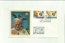 133962 BUSTA PRIMO GIORNO FDC CON SETA PAPA GIOVANNI PAOLO SECONDO 1981