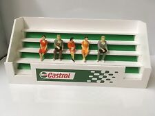 NEW Castrol Slotcar 1/32 scale 5x figures & Grandstand - Carrera Scalextric SCX