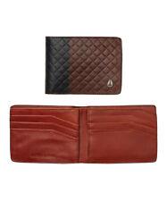 NIXON CAPE SE BI-FOLD WALLET MENS Black/ Brown 100% leather Brand New In Box