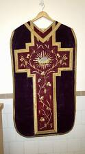 Antique Roman Chasuble Gold Wire Embroidery