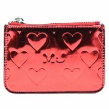 NEW Marc by Marc Jacob Mirror Heart Wristlet Pouch Red