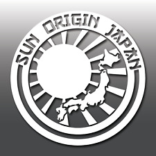 Sun Origin Japan Rising Sun JDM Novelty Car Vinyl Decal Sticker | Euro | Funny