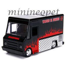 JADA 30864 MARVEL MOVIE DEADPOOL TACO FOOD TRUCK 1/32 DIECAST MODEL CAR BLACK