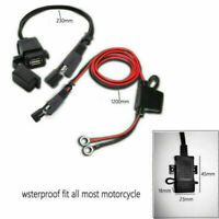 Motorcycle 12V SAE to USB Cell Phone GPS Power Charger Cable Adapter Inline Fuse