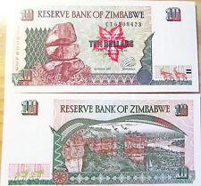 """BILLETE """"  ZIMBABWE    10 DOLARES   AÑO  1997    PLANCHA    UNC"""