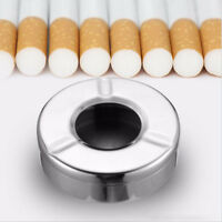 MagiDeal Shape Ashtray Stainless Steel with Lid Desktop Smoking Ash Tray