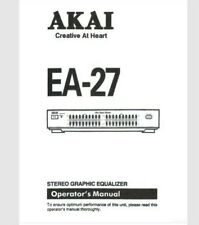 AKAI EA-27 Stereo Graphic Equalizer Operating Instruction EQ USER MANUAL