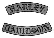 Harley-Davidson Embroidered H-D Script Emblem, 3X Size, 12 x 3.25 inch EM022757