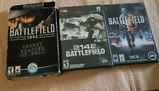 Lot of Battlefield PC CD-ROM Games #3, 1942, 2142 complete in boxes 2003-2011
