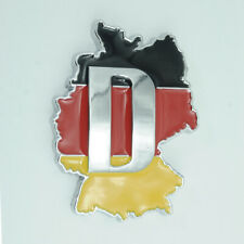 Germany DE Flag Chrome Metal Rear Trunk Emblem Badge Sticker For BMW MINI